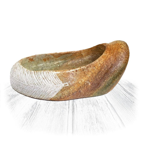 Feather Stone Bowl
