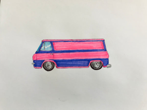 Pink n Purple Van