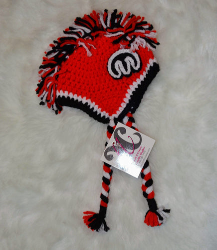 Red Mopar Mohawk Beanie - Mopar Winter Hat - Red Mopar Hat - Craft N Crazee