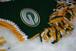 Packers Mohawk Beanie - Packers Winter Hat - Greenbay Packers Hat - Craft N Crazee
