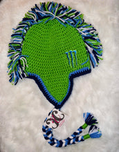 Load image into Gallery viewer, Green Monster Mohawk Beanie - Monster Winter Hat - Monster Energy Hat - Craft N Crazee