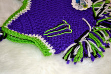 Load image into Gallery viewer, Purple & Green Monster Mohawk Beanie - Monster Winter Hat - Monster Energy Hat - Craft N Crazee
