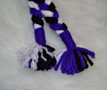 Load image into Gallery viewer, Purple & White Monster Mohawk Beanie - Monster Winter Hat - Monster Energy Hat - Craft N Crazee