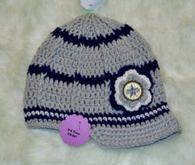 Load image into Gallery viewer, Cowboys Brimmed Beanie - Cowboys Hat - Dallas Cowboys Girl Beanie - Craft N Crazee