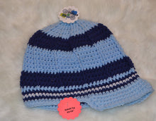Load image into Gallery viewer, The Blues Brimmed Beanie - Brimmed Hat - Brimmed Boy Beanie - Craft N Crazee