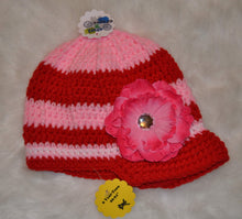 Load image into Gallery viewer, Pink & Red Brimmed Beanie - Brimmed Hat - Brimmed Beanie - Craft N Crazee