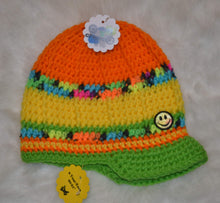 Load image into Gallery viewer, Smiling Brimmed Beanie - Brimmed Hat - Brimmed Beanie - Craft N Crazee