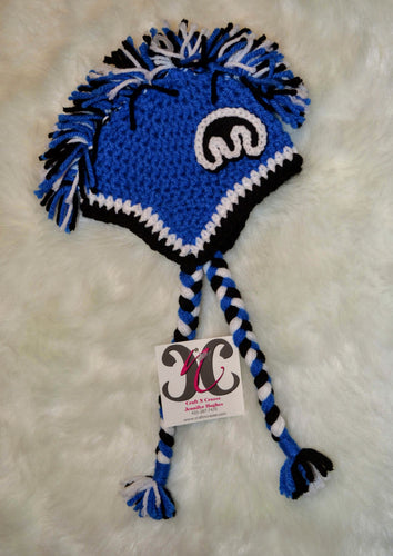 Blue Mopar Mohawk Beanie - Mopar Winter Hat - Blue Mopar Hat - Craft N Crazee