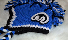 Load image into Gallery viewer, Blue Mopar Mohawk Beanie - Mopar Winter Hat - Blue Mopar Hat - Craft N Crazee