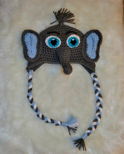 Elephant Beanie - Elephant Hat - Elephant Winter Hat - Craft N Crazee