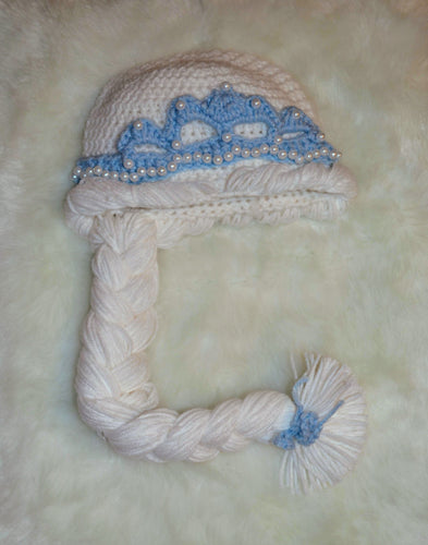Elsa Beanie - Elsa Princess Hat - Elsa Winter Hat - Craft N Crazee