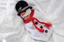 Load image into Gallery viewer, Crochet Baby Snowman Cocoon - Craft N Crazee
