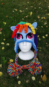 Rainbow Dash Beanie - Craft N Crazee