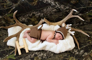 Crochet Baby Buck Deer Outift - Craft N Crazee
