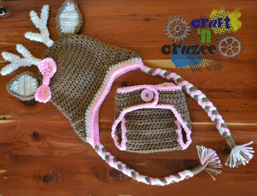 Crochet Girl Buck Deer - Craft N Crazee