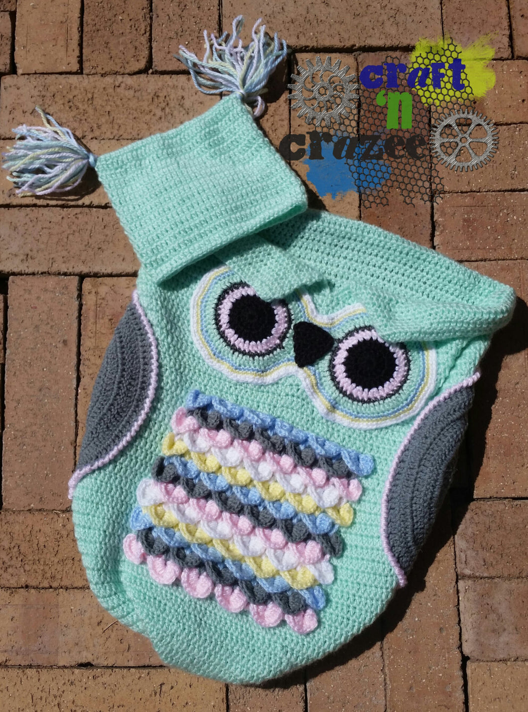 Baby Green Owl Baby Cocoon - Owl Sleep Sack - Newborn Owl Blanket - Craft N Crazee