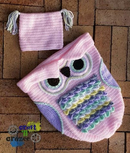 Baby Pink Owl Baby Cocoon - Owl Sleep Sack - Newborn Owl Blanket - Craft N Crazee