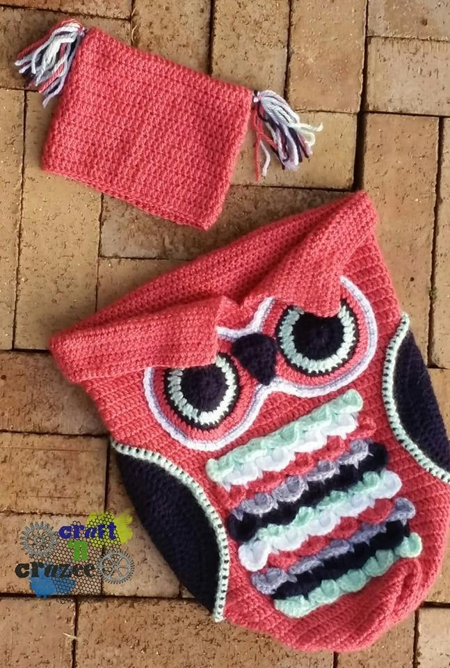 Coral Owl Baby Cocoon - Craft N Crazee
