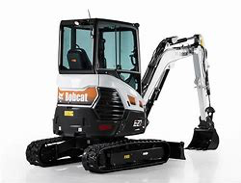 2.7 tonne Bobcat excavator for hire at Forth Grass Machinery
