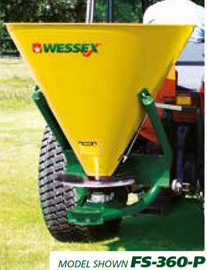 WESSEX GRANULAR SALT SPREADERS - Mounted PTO salt spreader