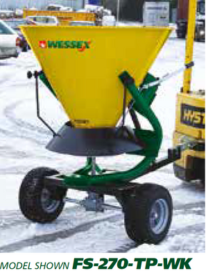 WESSEX GRANULAR SALT SPREADERS - Trailed salt spreader