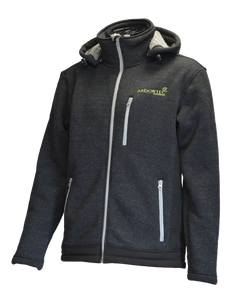 Arbortec Yeti - Knitted Fleece Lined Hooded Jacket - Grey
