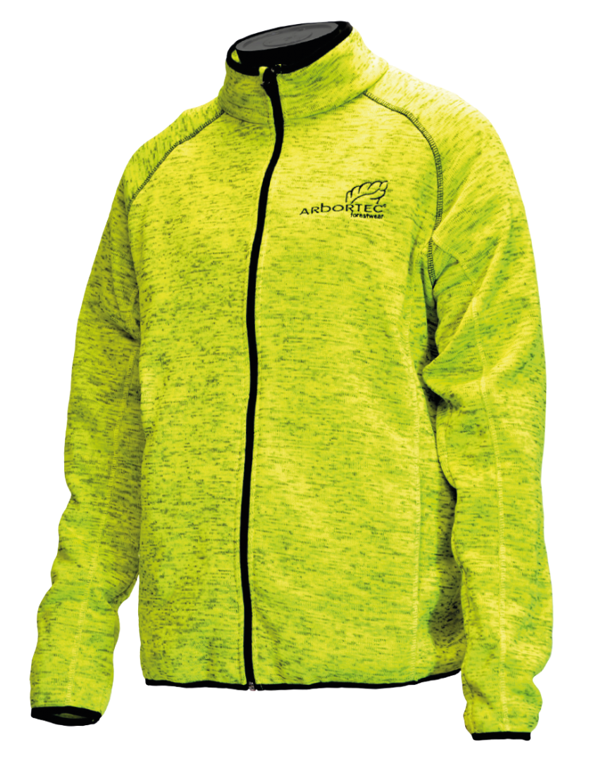 Arbortec Kodu - Knitted Melange Jacket - Yellow