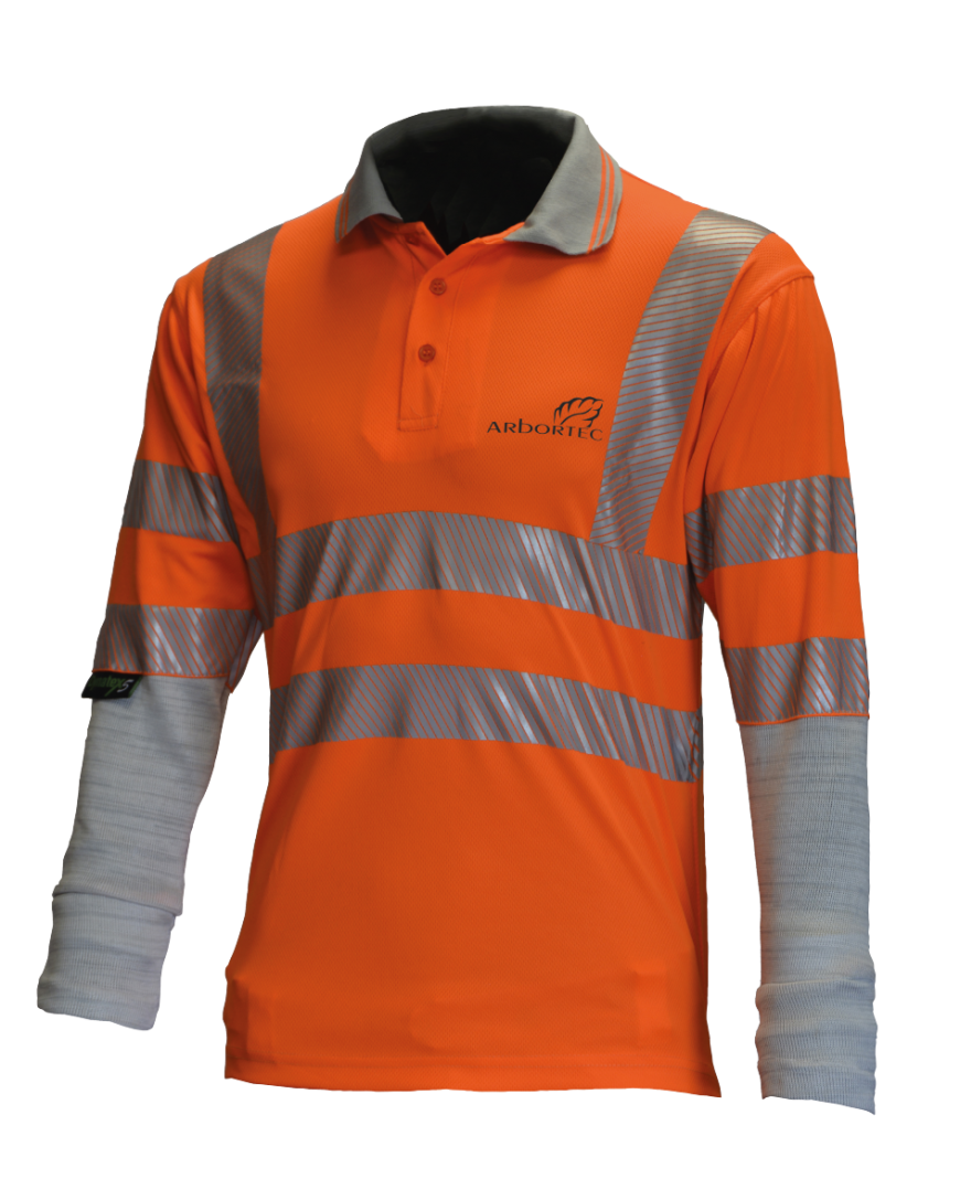 Arbortec Hi-Vis Polo with Cut Protective Sleeves