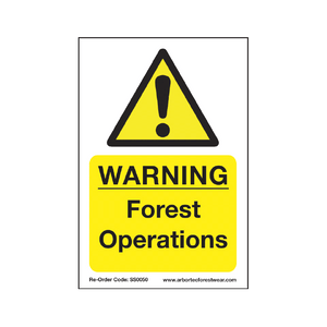 "Treehog ""Warning Forest Operations"" Sign"