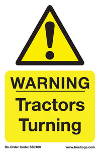 "Treehog ""Warning Tractors Turning"" Sign"