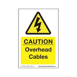"Treehog ""Caution Overhead Cables"" Sign"