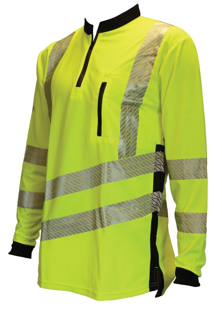 Treehog Hi-Vis Long Sleeved T-Shirt