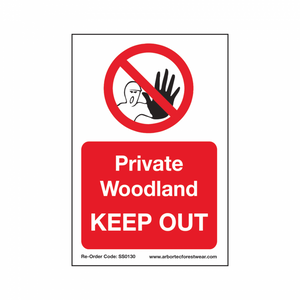 "Treehog ""Private Woodland Keep Out"" Sign"