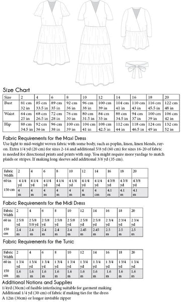 The Madrid Dress and Tunic - PDF pattern