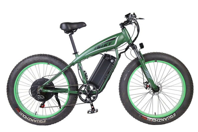 iBiky 26 inch electric bicycle fat tire 1000W electric mtb ebike 60V li-ion battery/green