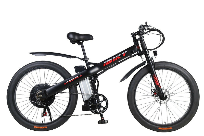 "26"" Electric Bike 3.0 Fat Tire 1000W MTB Mountain Ebike 60V Battery Full Suspension"