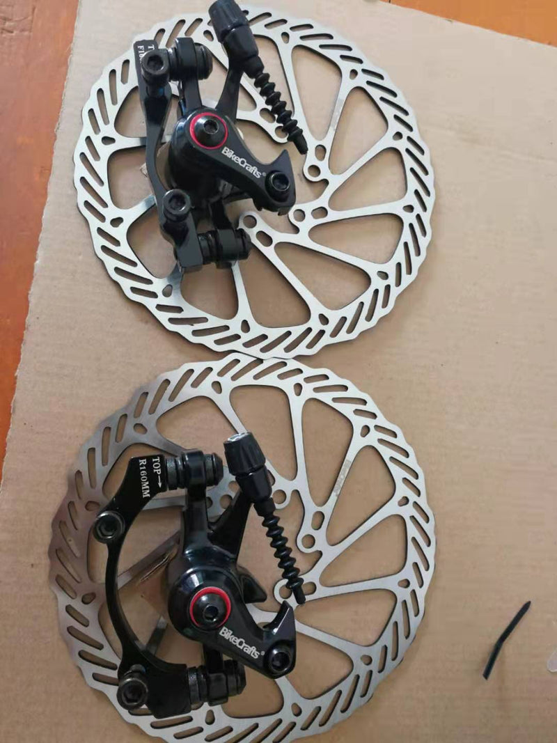MTB BB8 Mechanical Disc Brake Front and Rear 160mm whit Bolts and Cable