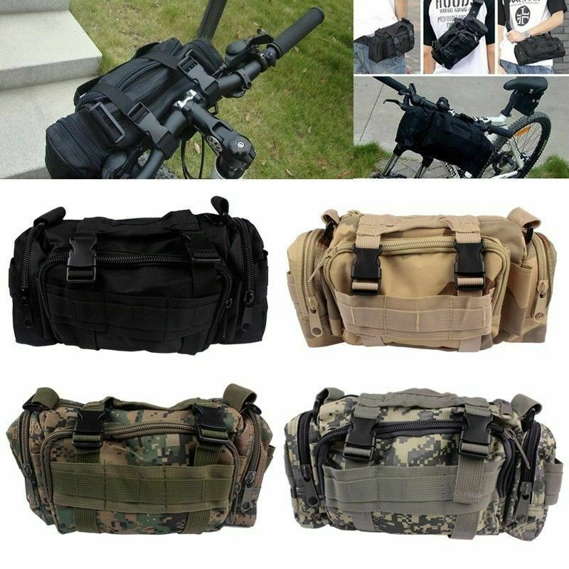 Cycling Bike Bicycle Sports Handlebar Waist Bag Shoulder Bag Holder Pouch