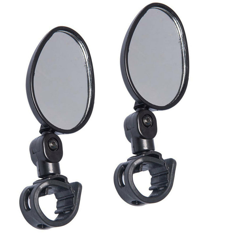 2-pack Mini Rotaty Handlebar Glass Rear view Mirror for Road Bike Bicycle US