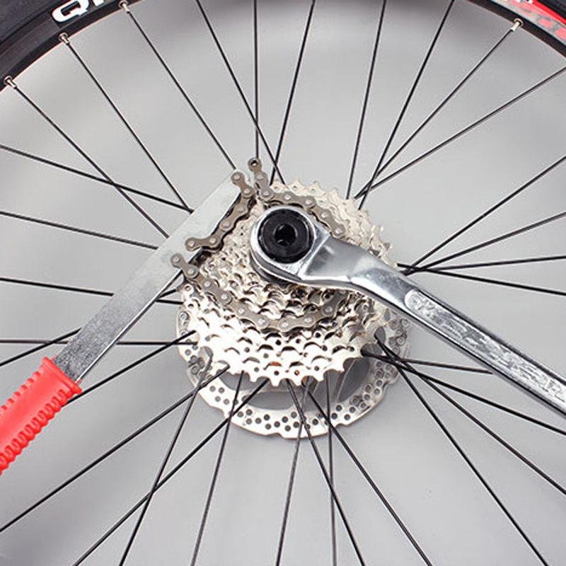 3 In 1 Bike Chain Whip Cassette Bracket Freewheel Wrench Remover L9H8 Repai Q6L7