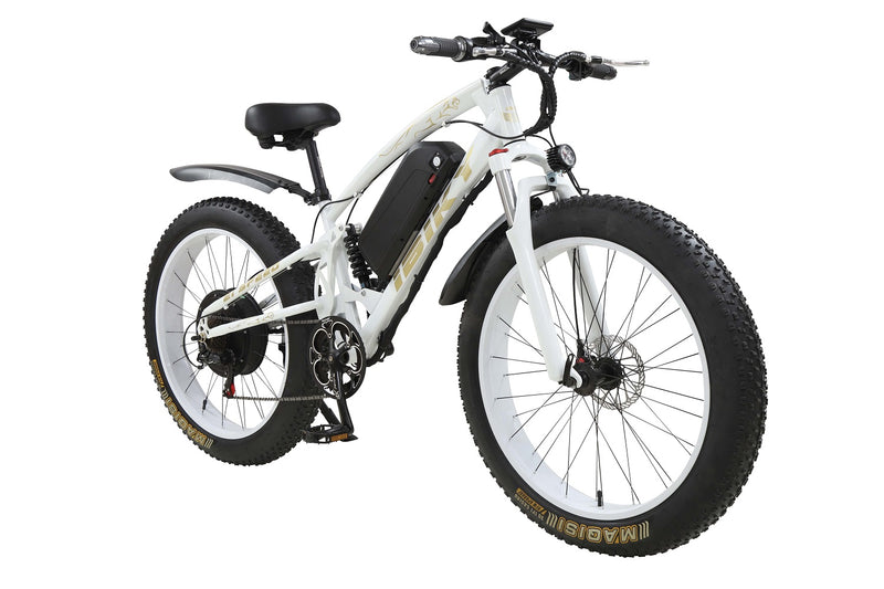 "26"" Electric Bike Fat Tire 1000W MTB Mountain Ebike 60V Battery Full Suspension"