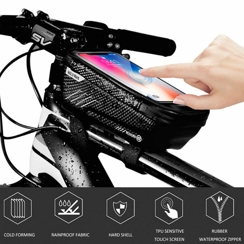 Bicycle Cycling Bike Front Top Tube Frame Bag MTB Waterproof Phone Holder Case