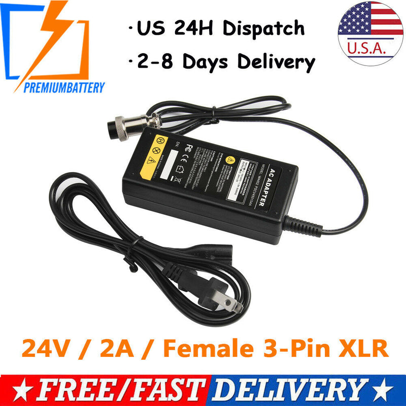 24 Volt Battery Charger For Razor Electric Scooter Bike 24V High Quality