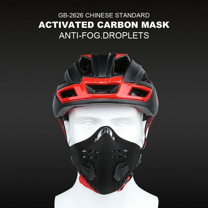 Sport Face Mask With Filter Activated Carbon PM 2.5 Anti-Pollution Running Train