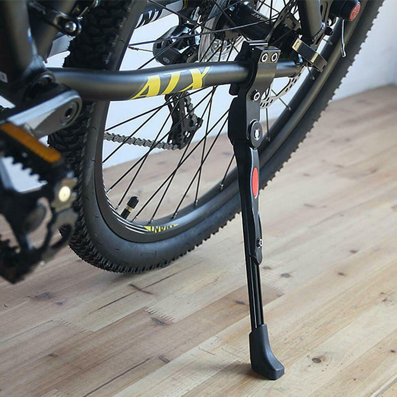Black MTB Road Bike Side Kickstand Mountain Bicycle Adjustable Alloy Kick Stand
