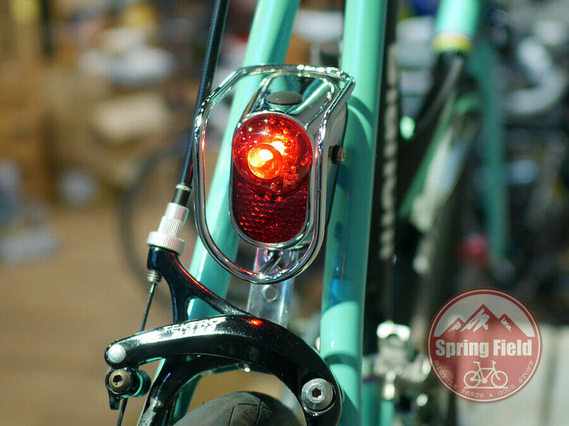 Bicycle Fender Light / Vintage Bike Tail Light / Retro Rear Light / Chrome LED
