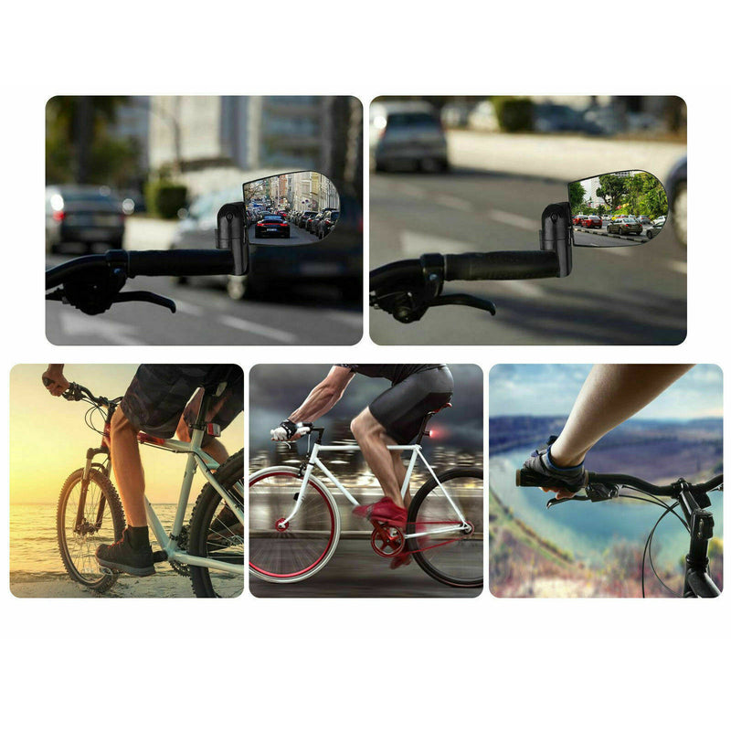 Rotatable Handlebar Rearview Mirror for Cycling Bike Bicycle Rear View Mirror US