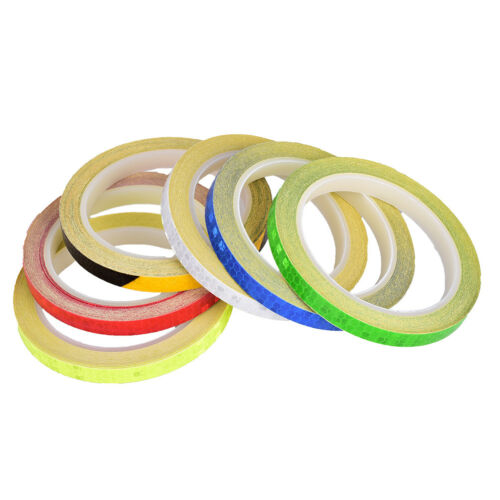 Fluorescent Bike Bicycle Cycling Motorcycle Reflective Stickers Strip TapeQP