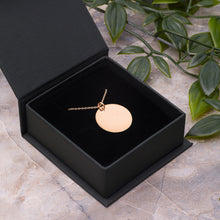 Load image into Gallery viewer, My Heart Beeps For You Engraved Rose Gold Disc Necklace for Gamer Girlfriend - vauus