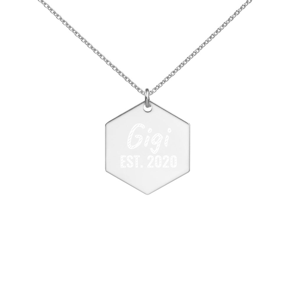 Gigi Est 2020 Necklace Engraved in Sterling Silver - vauus